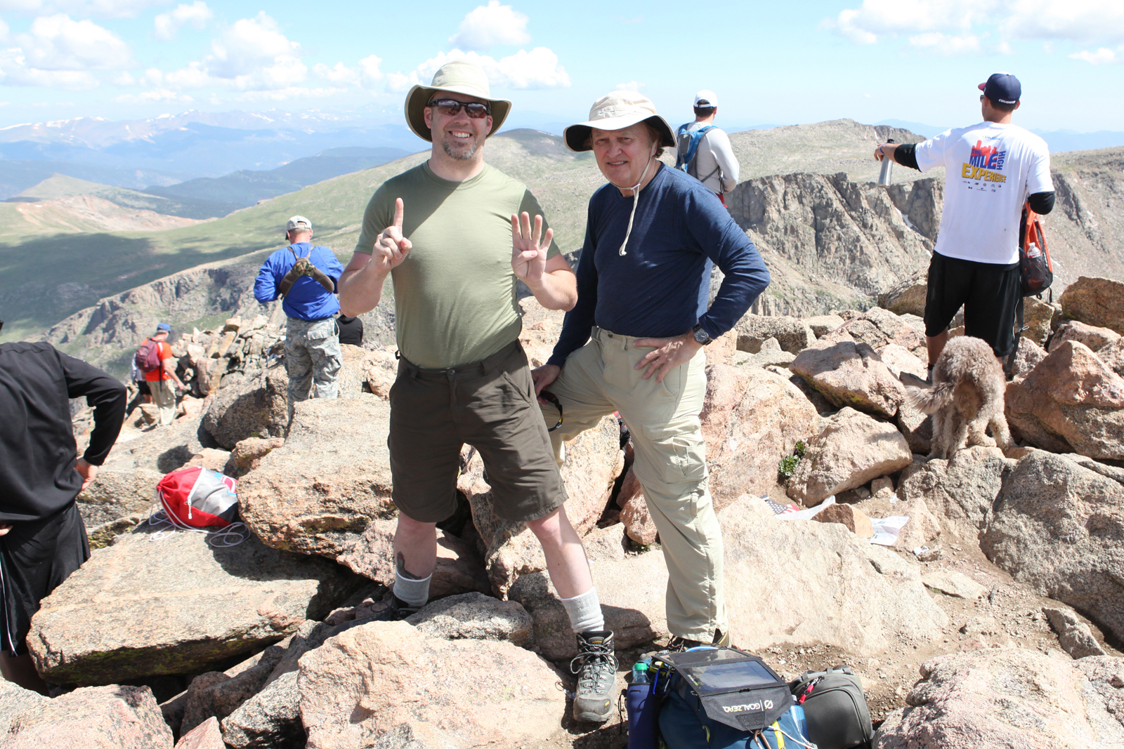 My Dad and I on the Mount Bierstadt summit 14,060 ft.