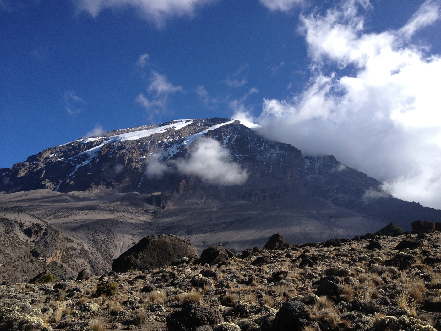 View of Mt. Kilimanjaro from Karanga Camp