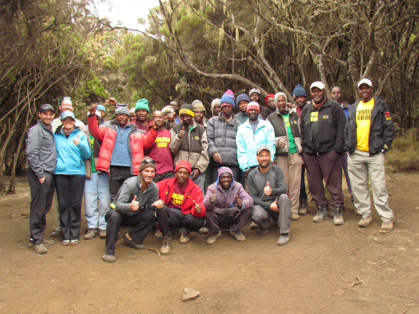 The full Tusker Trail crew (24) and climbers (5)